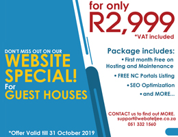 Website Special for Guest Houses | Keimoes Accommodation, Business & Tourism Portal